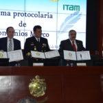 Firma protocolaria de convenios marco en materia de seguridad nacional entre el CESNAV, la Universidad Anáhuac México, el INAP y el ITAM