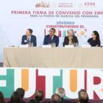 """Mensaje de el Dr. Alfonso Durazo Montaño durante la primera firma de convenio con empresas para la puesta en marcha del programa """"Jóvenes Construyendo el Futuro"""""""