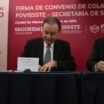 La SSPC y FOVISSSTE firman convenio de colaboración para otorgar créditos de vivienda a Policía Federal