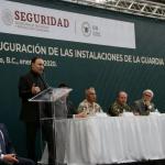 Alfonso Durazo inaugura instalaciones de la Guardia Nacional en Baja California