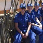 Elementos de la Secretaría de marina se gradúan de la academia de la Guardia Costera (USCGA) y la Academia Naval de Annapolis (USNA) de los Estados Unidos de América