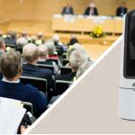 Cámara PTZ compatible con VISCA para necesidades flexibles de difusión y transmisión en directo
