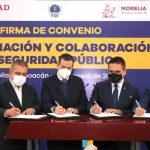 Firman SSPC y autoridades de Michoacán convenio de colaboración
