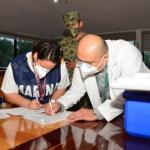 La Secretaría de Marina-Armada de México participa en el Plan de Brigadistas de Vacunación contra la COVID-19, en Campeche
