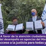 Ernestina Godoy Ramos firma convenio con el Consejo Ciudadano de la CDMX a favor de una ciudad segura.