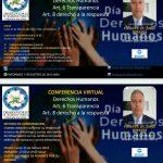 """Conferencia virtual """"Derechos Humanos: Art. 6 transparencia y Art. 8 derecho a la respuesta"""""""