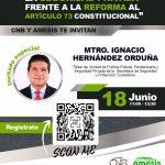 """Webinar: """"La seguridad privada frente a la Reforma al Artículo 73 Constitucional"""""""