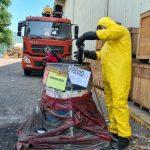 Autoridades Federales llevan acabo la inactivación de Benzaldehído en el Puerto de Manzanillo, Colima