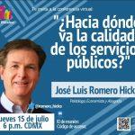 Conferencia ¿Hacia dónde va la calidad de los servicios públicos?