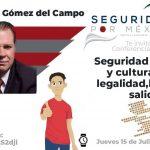 """Conferencia Magistral """"Seguridad Humana y cultura de la legalidad, la única salida"""""""